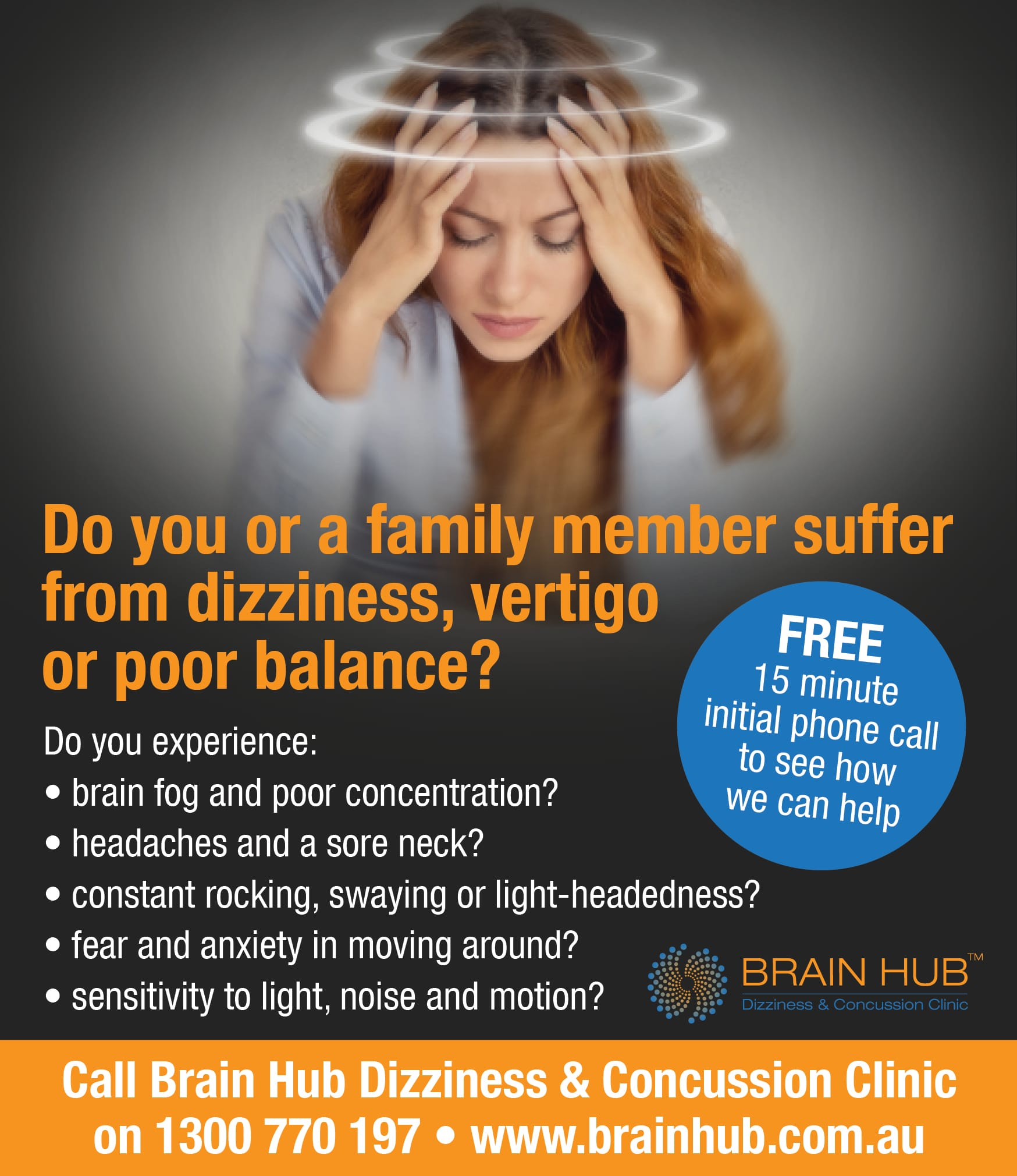 Take control of the effects of dizziness, vertigo and poor