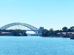 Mort Bay park harbour view