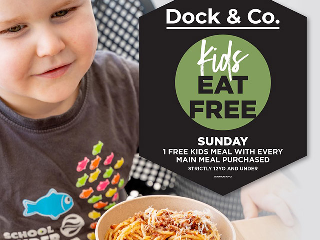 Dock & Co, Five Dock - kids eat free