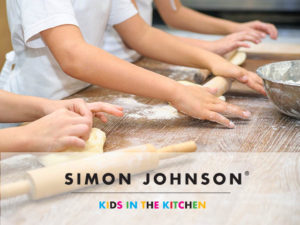 Kids rolling dough - Simon Johnson Cooking School