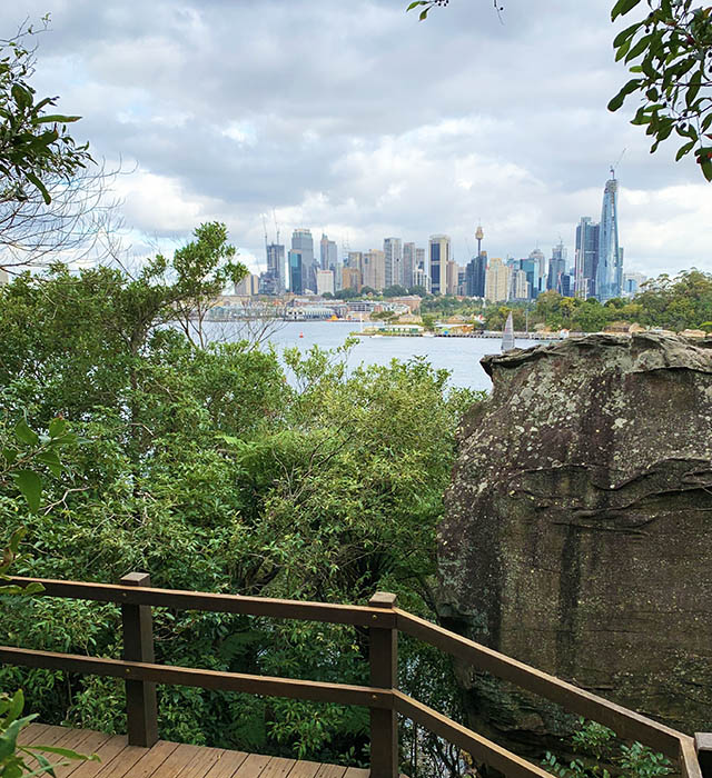Balls Head Reserve - city view