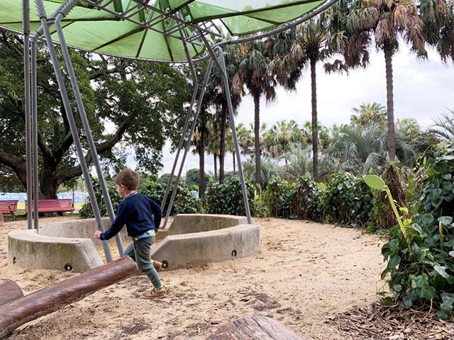 Inside the sandpit at Jubilee Park