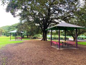 Picnic tables at Jubilee Park