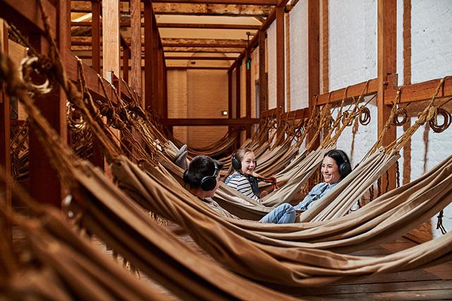 Children in hammocks