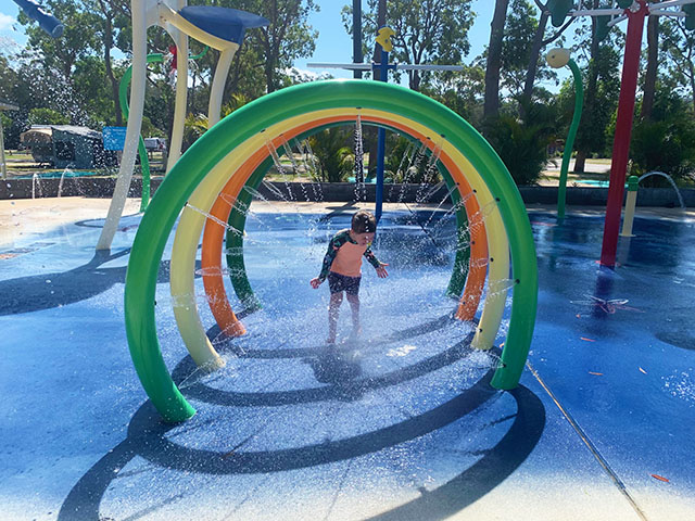 Water splash park at Umina NRMA