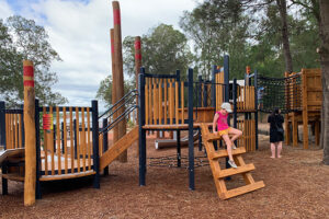 Climbing structure at Wangal Reserve