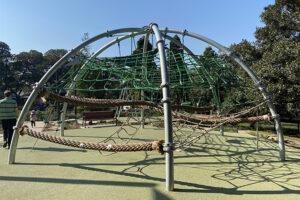 Climbing frame at Hollis Park in Newtown